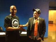 Former SAABJ President Marvin Hurst and Jesse Salazar